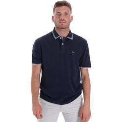 Textil Muži Polo s krátkými rukávy Les Copains 9U9020 Modrý