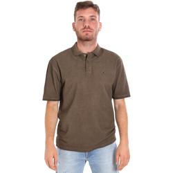 Textil Muži Polo s krátkými rukávy Les Copains 9U9016 Hnědý