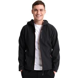 Textil Muži Teplákové bundy Superdry M5010058A Černá