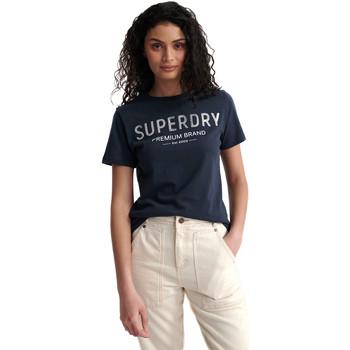 Textil Ženy Trička s krátkým rukávem Superdry W1010006A Modrý