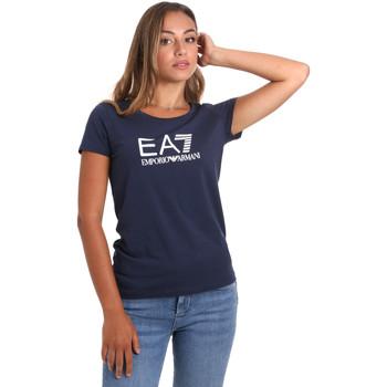 Textil Ženy Trička s krátkým rukávem Ea7 Emporio Armani 8NTT63 TJ12Z Modrý