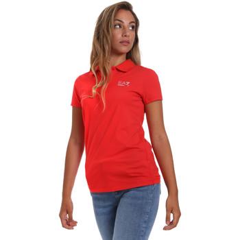 Textil Ženy Polo s krátkými rukávy Ea7 Emporio Armani 3HTF57 TJ29Z Červené
