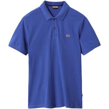 Textil Muži Polo s krátkými rukávy Napapijri NP0A4EGD Modrý