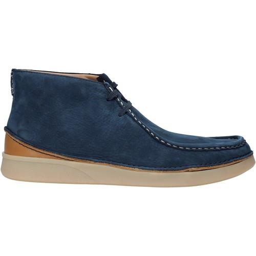 Boty Muži Kotníkové boty Clarks 26141964 Modrý