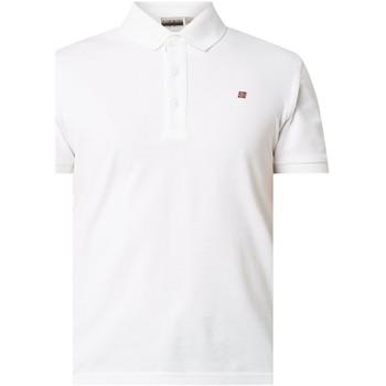 Textil Muži Polo s krátkými rukávy Napapijri NP0A4E2M Bílý