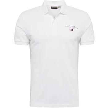 Textil Muži Polo s krátkými rukávy Napapijri NP0A4E2L Bílý