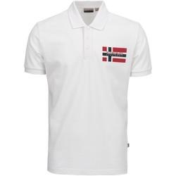 Textil Muži Polo s krátkými rukávy Napapijri NP0A4E2K Bílý