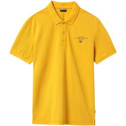 Textil Muži Polo s krátkými rukávy Napapijri NP0A4EGC Žlutá