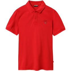Textil Muži Polo s krátkými rukávy Napapijri NP0A4EGC Červené