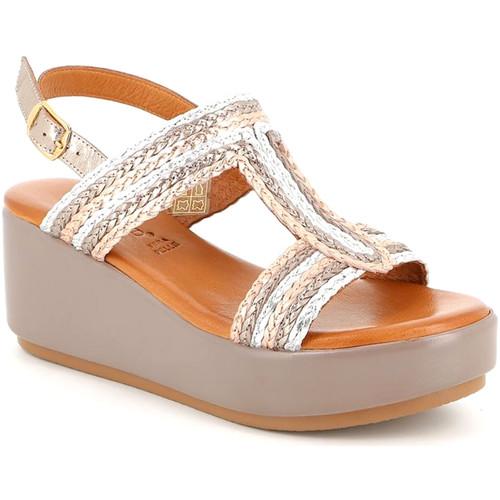 Boty Ženy Sandály Grunland SA2489 Béžový