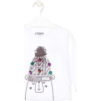 Textil Děti Trička s dlouhými rukávy Losan 026-1007AL Bílý