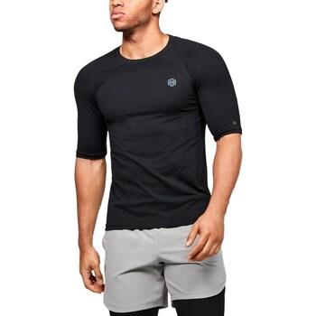 Textil Muži Trička s krátkým rukávem Under Armour UA Rush HG Seamless Compression Černé