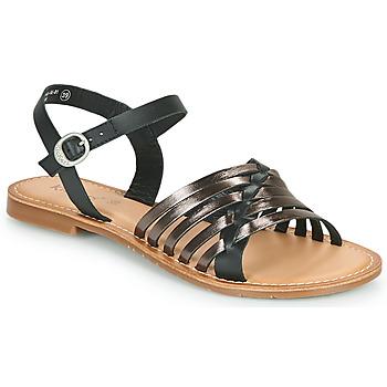 Boty Ženy Sandály Kickers ETCETERA Černá / Stříbřitá