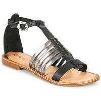 Boty Ženy Sandály Kickers ETIKET Černá / Stříbřitá