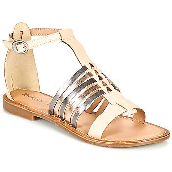 Boty Ženy Sandály Kickers ETIKET Růžová / Stříbřitá