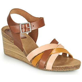 Boty Ženy Sandály Kickers SOLYNIA Růžová / Hnědá / Žlutá