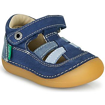 Boty Chlapecké Sandály Kickers SUSHY Modrá