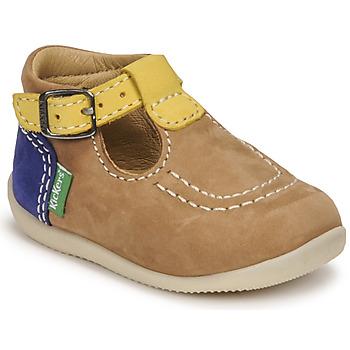 Boty Chlapecké Sandály Kickers BONBEK-2 Béžová / Žlutá / Tmavě modrá