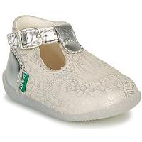 Boty Dívčí Baleríny  Kickers BONBEK-2 Stříbrná