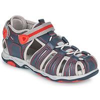 Boty Chlapecké Sandály Kickers KAWA Tmavě modrá / Červená