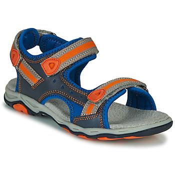 Boty Chlapecké Sandály Kickers KIWI Modrá / Oranžová