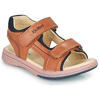 Boty Chlapecké Sandály Kickers PLATINO Velbloudí hnědá