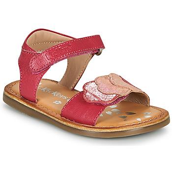 Boty Dívčí Sandály Kickers DYASTAR Růžová