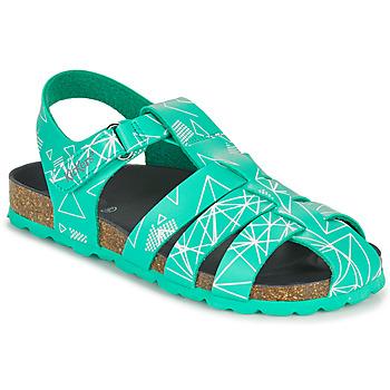 Boty Chlapecké Sandály Kickers SUMMERTAN Zelená