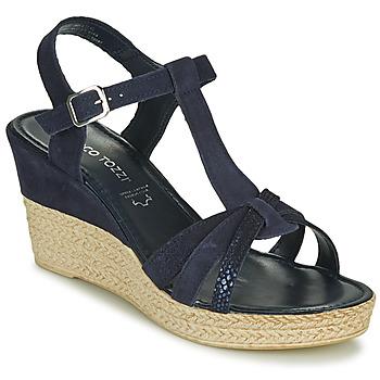 Boty Ženy Sandály Marco Tozzi ANNA Tmavě modrá