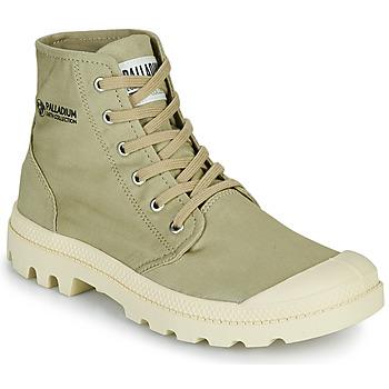 Boty Kotníkové boty Palladium PAMPA HI ORGANIC II Zelená