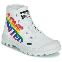 Boty Kotníkové boty Palladium PAMPA HI PRIDE Bílá / Vícebarevná