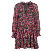 Textil Ženy Krátké šaty Moony Mood NOMINA Černá / Růžová