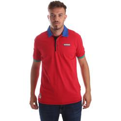 Textil Muži Polo s krátkými rukávy Napapijri N0YIG1 Červené