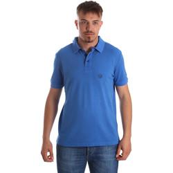 Textil Muži Polo s krátkými rukávy Gaudi 911BU64063 Modrý