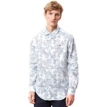 Textil Muži Košile s dlouhymi rukávy Napapijri N0YIDA Bílý