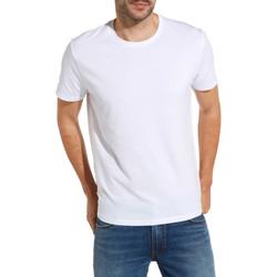 Textil Muži Trička s krátkým rukávem Wrangler W7500F Bílý