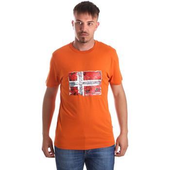 Textil Muži Trička s krátkým rukávem Napapijri N0YIJ4 Oranžový