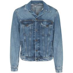 Textil Muži Riflové bundy Pepe jeans PM400908WG5 Modrý