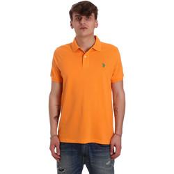 Textil Muži Polo s krátkými rukávy U.S Polo Assn. 55957 41029 Oranžový
