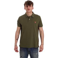 Textil Muži Polo s krátkými rukávy U.S Polo Assn. 55957 41029 Zelený