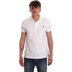 Textil Muži Polo s krátkými rukávy U.S Polo Assn. 55957 41029 Bílý