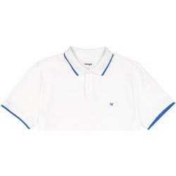 Textil Muži Polo s krátkými rukávy Wrangler W7D5K4989 Bílý