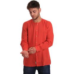 Textil Muži Košile s dlouhymi rukávy Gaudi 811BU45022 Červené