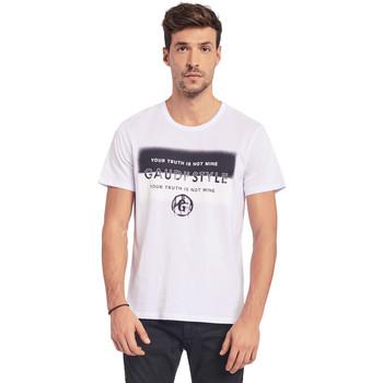 Textil Muži Trička s krátkým rukávem Gaudi 011BU64108 Bílý