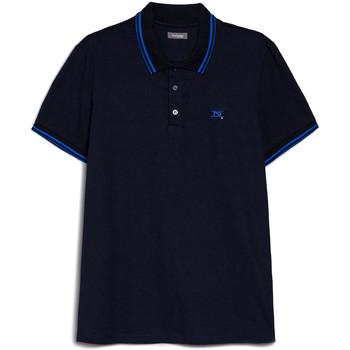 Textil Muži Polo s krátkými rukávy Nero Giardini E072370U Modrý