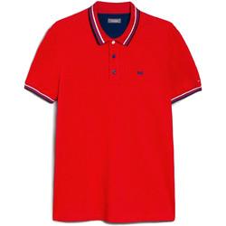 Textil Muži Polo s krátkými rukávy NeroGiardini E072390U Červené