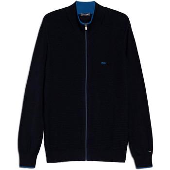 Textil Muži Svetry / Svetry se zapínáním Nero Giardini E074560U Modrý