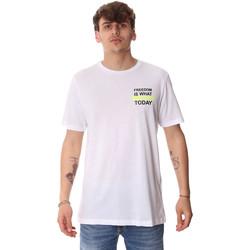Textil Muži Trička s krátkým rukávem Antony Morato MMKS01786 FA100189 Bílý