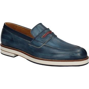 Boty Muži Mokasíny Exton 605 Modrý