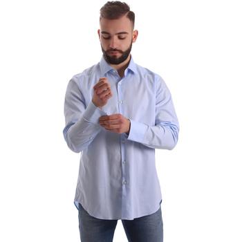 Textil Muži Košile s dlouhymi rukávy Gmf 962111/21 Modrý
